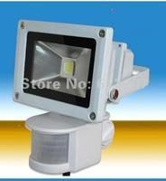 Dropship 10W New PIR Motion sensor LED Floodlight Flood Lights Light Induction Sense lamp 85~265V -- free shipping