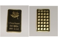 100pcs/LOT 1OZ maple leaf bar with gold plated