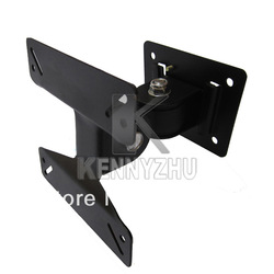 Universal SPHC Rotated TV Wall Mount Bracket Support For 14 - 24 Inch LCD Falt Panel Plasma TV Free Shipping(China (Mainland))