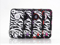 3 Pieces Zebra Combo Impact Hybrid Silicone + Pc Hard Soft Case for iphone 5 5G