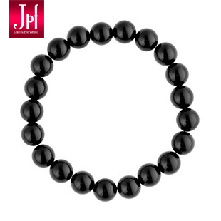 Free shipping Jpf high quality black agate bracelet female male bracelet male lucky jewelry beads bracelet(China (Mainland))