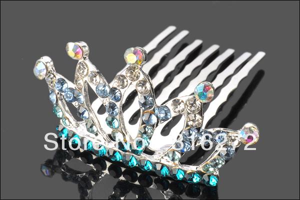 Free shipping! Stylish Rhinestone Crown Metal Hair Comb HHC245(China (Mainland))