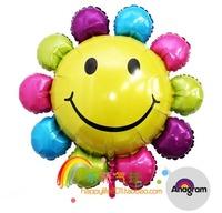 foil balloons ,colourful sunflower balloon , helium balloon ,party decorate 70cmX70cm