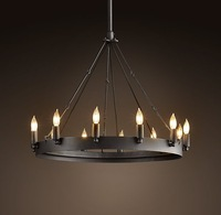 Free shipping! Hot selling Camino Round Chandelier  , loft  pendant lamp, Round table warrior candle dropligh