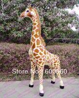 2013 New Arrival 57'' Giant Plush Stuffed Giraffe Cameleopard 145 cm tall  FT90094