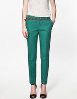 Spring Summer &Autumn Excellent Quality Elegant Fashion Ladies Pencil Pants, Women Trousers With Belt
