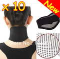 New 10 pcs Tourmaline Self Heating Magnetic Therapy Neck Wrap Belt Neck Self Heat Brace Neck Support Free Shipping