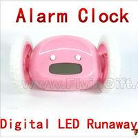Magic Alarm Clock will Run and Ring,Hide and Seek, LED digital runaway alarm clock, good gifts