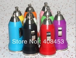 10pcsUniversal Color Mini USB Car Charger For IPhone 4 4G 3G IPod ITouch HTC Samsung Blackberry Nokia Motorola Auto Adapter(China (Mainland))