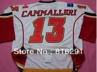 Good quality men men's Ice Hockey #13 Mike Cammalleri 13  white color jersey away  jerseys best sale