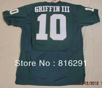 men Men's Baylor Bears #10 Robert Giffin III 10 Green color Pro Combat College American football Jersey jerseys