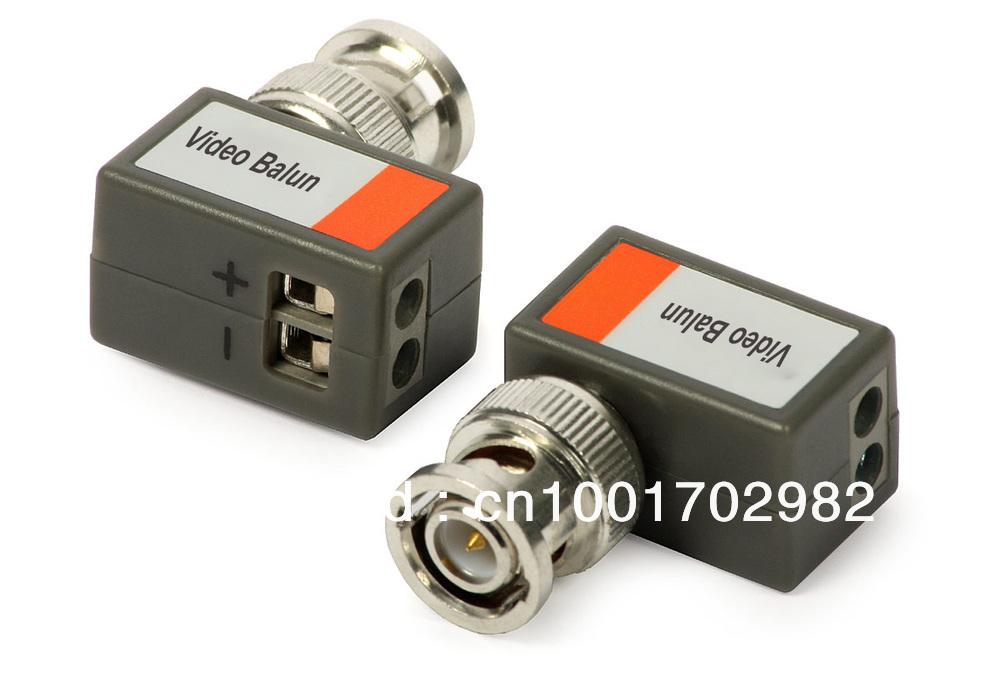 10xCCTV Camera Passive Video Balun UTP Transivers BNC CAT5 CABLE CONNECTORS 5xPairs(China (Mainland))