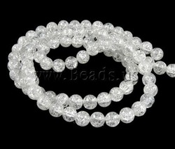 Free Shipping! 80PCs/Lot Fashion Clear Round Ice Flake Crackle Glass Beads 10mm 31-In Wholesale Loose Beads for Jewelry DIY(China (Mainland))