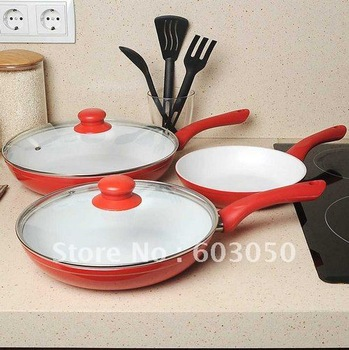 New CeramiCore Ceramic pan - 3pcs+2 lids/set 12sets