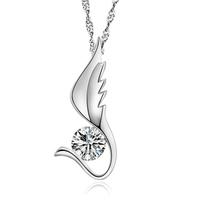 925 pure silver pendant necklace fashion jewelry fashion short design star style