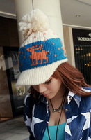 New Fashion Women' knitted yarn baseball cap acrylic knitting wool casual hat Free Shipping