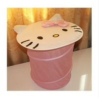 Hello Kitty Design Folding Dirty Clothes Basket Holder