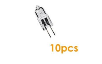 10Pcs Mini Warm White G4 12V 10W 20W 35W Tungsten Halogen Lamp Light Bulb