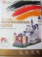 Toy 3D Puzzle Neuschwanstein Castle World Great Architecture Mini 3D Puzzle 98 pieces Games