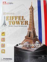 Toy 3D Puzzle Eiffel Tower 35 Pieces World Great Architecture Mini 3D Puzzle
