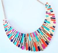 Exquisite fashion punk metal shell fanghaped elegant false collar short design necklace