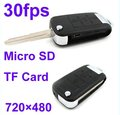 Mini DVR 720*480 Car Key Hidden Camera S818 30fps With Motion 1PC China Post Free Shiping