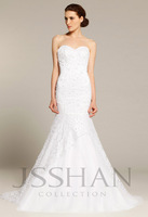12W009 Strapless Sweetheart Pearled Embroidery Mermaid Train Bridal Gorgeous Luxury Unique Brilliant Wedding Dress Wedding Gown