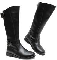 size38-44 fashion men' s european brief cool elegant buckle long boots.korean male pu leather dancing black/brown boots sale