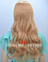 "One Piece Synthetic Hair synthetic hair extensions 100g/pc 20"" (50cm)Colors: #27 Strawberry Blonde"