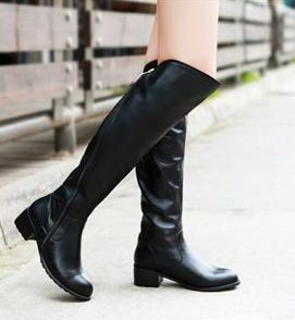 Free shipping ladies real genuine leather over knee boots fashion high heel women boot quality footwear shoes R197 size 34-39