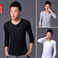 2012 free shipping hot sale 6color explosion models fashion Slim shirts men's elastic bottoming shirt Mens long sleeve t -shirt