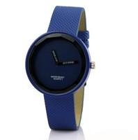 NEW Stylish Leather Bracelet Unisex Wrist Watch Wristwatch
