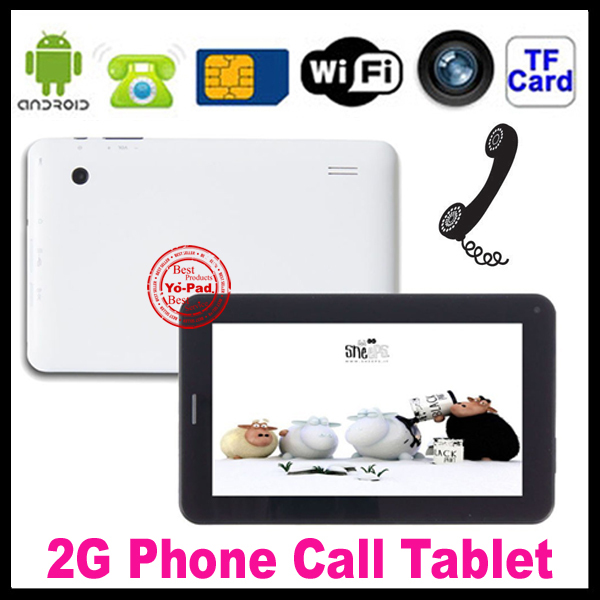 2013 Wholesale 7inch 2g phone call android 4.0 allwinner A13 Dual Camera 4gb rom 512MB ram Tablet PC with sim card slot(China (Mainland))