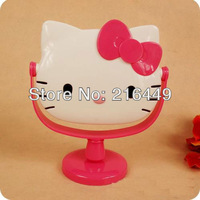 Cute lovely Hello Kitty Face Shape Make up Mirror  PINK  Table Mirror Multi Use Home Use & Decoration dropship Wholesale