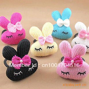 Sale Free Shipping Hair Ties Yarn Rabbit Fashion Headband Cartoon Child Hair Accessory