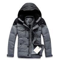 2014 Men new winter clothes,Men's down jacket, Men Woolen Down jacket coat