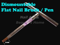 Freeshipping Flat Sable Acrylic Nail Art Brush Detachable Nail Brushes UV Gel Set Wholesales #0063