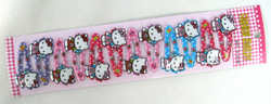120 Cartoon Hello Kitty Hair Clips Slides Grips Snap Close Girls Party Bag Favour Gift Sleepies(China (Mainland))