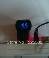 Digital car battery monitoring Voltmeter Blue color