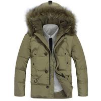 2013 Winter Men Long  Jacket Hooded  Down Coat Plus Size M-XXXL Khaki Black Brown Free shipping