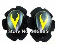 Free shipping 1pairs SBK Knee Slider,knee protector, motorcycle racing knee protector Yellow bhyu