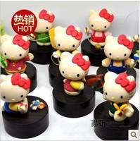 Wholesale +Free shipping!High Quality Hello Kitty PVC Figures Toy,Vintage Hello Kitty PVC Home Decoration 11pcs/set