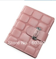 Drop ship 100% real leather wholesale & retai fashion leather  woman wallet  genuine leather lady wallet free shipping