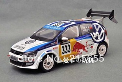 Free shipping by express,Diecast Model,Dealer 1:18,Volkswagen,VW,NEW POLO RACING CAR,#333,RED BULL(China (Mainland))