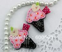 """2"""" ice cream Girls cartoon Hair Clips baby Hair Bows handmade Simple wool felt clips 120pcs / lot"""