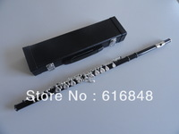 Wholesale  Inventory students 16 hole plus the E key the obturator flute instrument black body Silver Grant