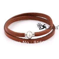 Genuine Leather Cuff Bracelet, Loved By Girls Handmade Real Leather Bracelet Fashion Jewelry