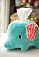 Plush toy towel sets car tissue pumping tissue box