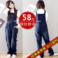 Maternity bib pants spring and autumn maternity clothing maternity denim bib pants maternity pants 3032