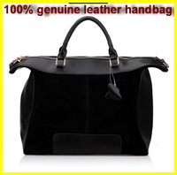 Детали и Аксессуары для сумок Free ship bag genuine leather women's handbag double zipper cowhide vintage handbag motorcycle bag one shoulder bag small